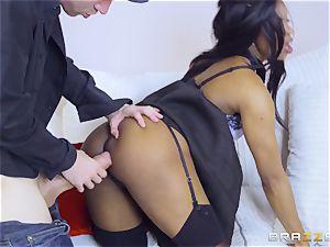 ebony hotty Jasmine Webb railing Danny D