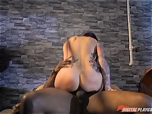 Monique Alexander cootchie thrashed nads deep then creamed on her face by bbc