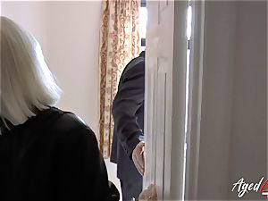 AgedLovE Mature female Lacey Starr sucking hard dick