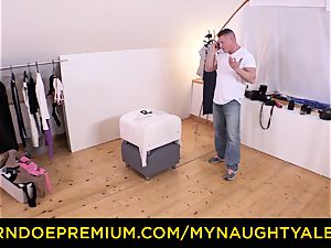MY super-naughty ALBUM Model finishes up tearing up camera operator