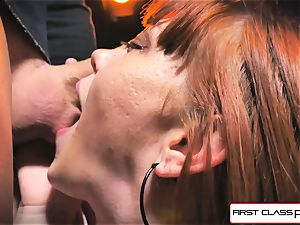 very first Class point of view - Alexa Nova deep throating a big shaft in pov