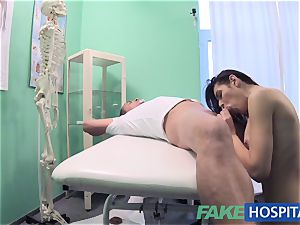 FakeHospital muddy doctor fucks thief and creampies her