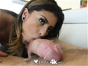 EXOTIC4K fettered up running in rivulets oil tear up with Latina