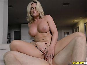 huge-titted platinum-blonde Phoenix Marie hotwife pulverize
