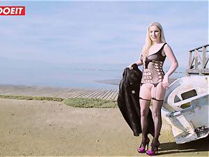 LETSDOEIT - blond Thot boinked rock-hard By the Beach