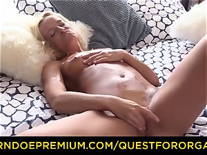 QUEST FOR climax lubricated ash-blonde powerful hot fingerblasting
