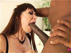 enormous udders cougar Eva Karera takes monster black trunk