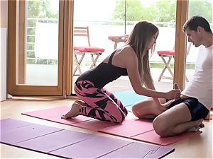 Relaxxxed - Czech Angela Christin romping after yoga