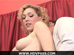 platinum-blonde housewife Lily likes HD blowjob and doggie-style