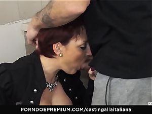 casting ALLA ITALIANA Mature redhead booty plumbed deep
