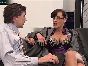 Lisa Ann hard-core shag with her chief