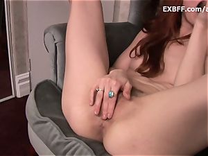 furry redhead squirts after mighty self plumbing scene