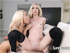 diminutive Blondes get screwed rigid - Piper Perri, Elsa Jean