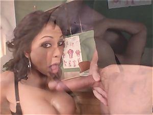 wailing and shrieking Priya Rai popped in the gash by headteacher
