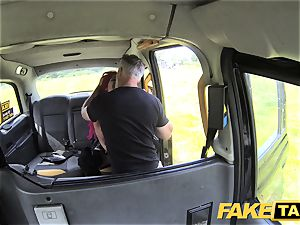 faux taxi Fetish goddess in ebony leather rectal creampie