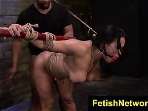 FetishNetwork Becca Diamond cord bondage