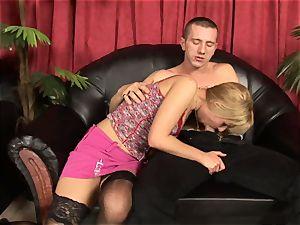 Victoria glisten gives Tomi's schlong a glisten