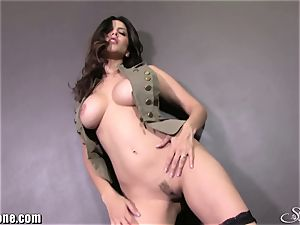 SunnyLeone Sunny Leone in her army clothing! fresh Solo!