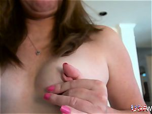 USAwives older Mature Lisal jaw-dropping Striping down