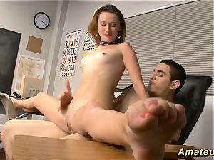 Flexi schoolgirl enjoys acrobatic intercourse