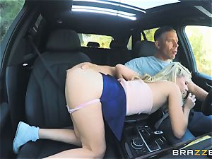 Riley starlet hammered outdoors in the boot