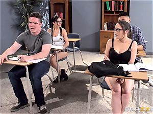 huge-titted educator Ava Addams is banged by her college girl