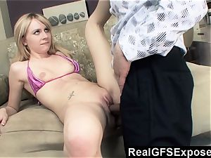 RealGfsExposed Her stepfathers fat dick