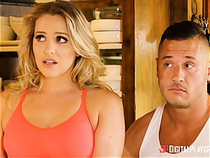 Mia Malkova and Olive Glass coochie plumbed in the kitchen