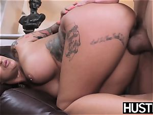 inked and big-titted Payton Sinclaire fed cum after boinking