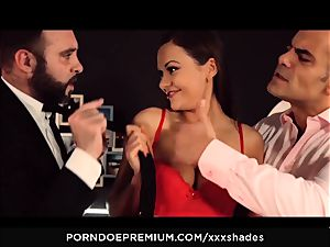 hard-core SHADES - Tina Kay double penetration and deep throat in MMF plow festival