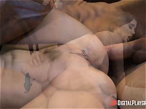 kinky brown-haired Gia Paige takes it deep up her labia