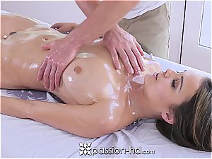 Passion-HD - Dillion Harper raw massage with facial cumshot