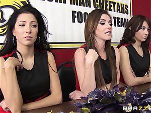 Mean cheerleaders gang nail August Ames